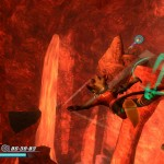 Rodea: Sky Soldier Gameplay Screenshot Volcano WiiU 3DS