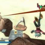 Rodea: Sky Soldier Gameplay Screenshot Zipline by Foot WiiU 3DS