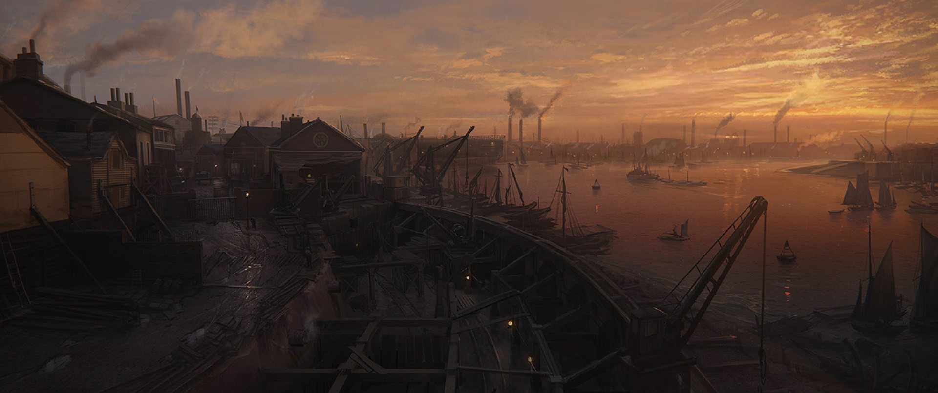 The Order 1886 Wallpaper Blackwall Yards Concept Artwork PS4