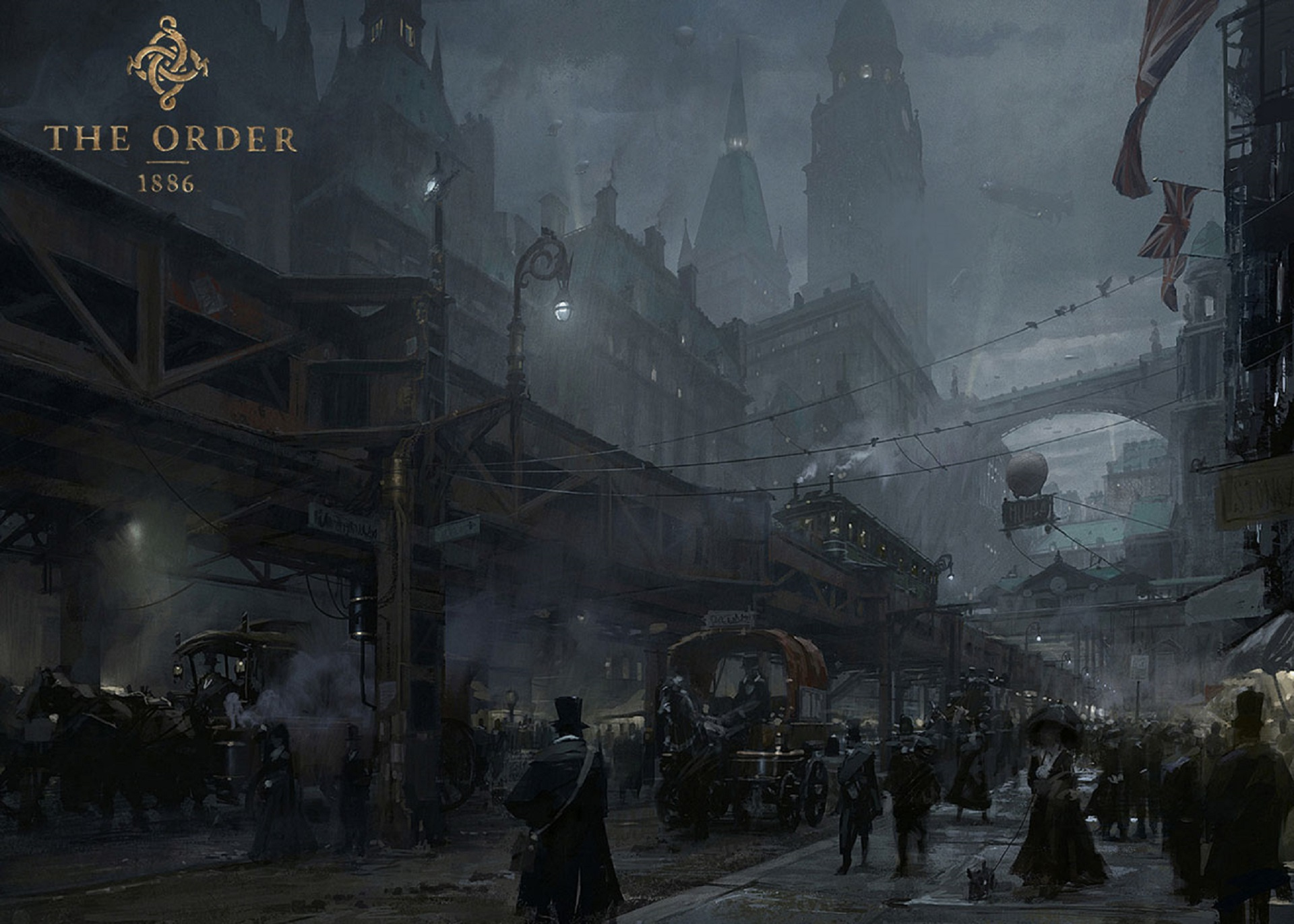The Order 1886 Wallpaper Mayfair Street Scene Concept Artwork PS4