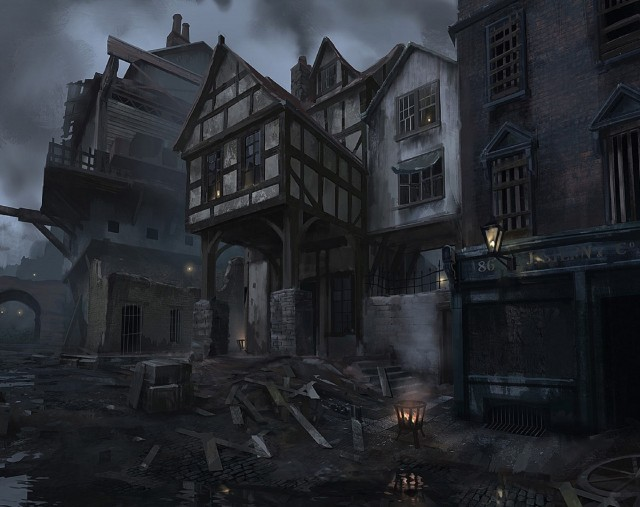 The Order 1886 Wallpaper Ruins and Fire Pit Concept Artwork PS4