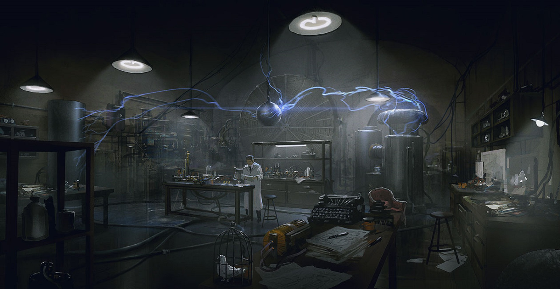 The Order 1886 Wallpaper Tesla Lab Coil Experiment Concept Artwork PS4