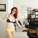 Meg Turney Dog In Underwear
