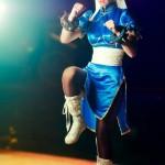 Meg Turney Chun Li One Leg Standing