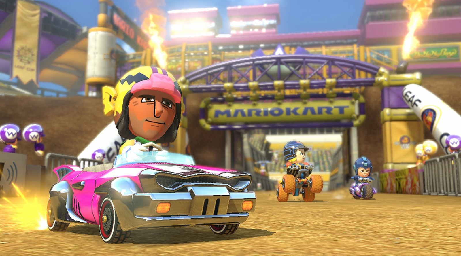 Mario Kart 8 Amiibo Costumes Wario Gameplay Screenshot Wii U