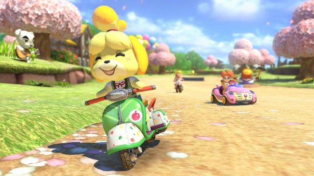 Mario Kart 8 Animal Crossing Gameplay Screenshot KK Slider Rocks Wii U