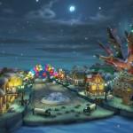 Mario Kart 8 Animal Crossing Tracks Gameplay Screenshot Christmas Lights Wii U