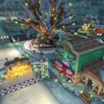 Mario Kart 8 Animal Crossing Tracks Gameplay Screenshot Merry Christmas Winter Wonderland Wii U