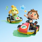 Mario Kart 8 Animal Crossing Villager and Isabelle Characters Artwork