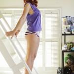 Meg Turney So Sexy On Ladder