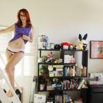 Meg Turney Bookshelf In Undies