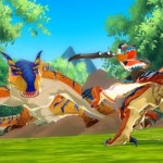 Monster Hunter Stories Screenshot Mounted Combat 3DS