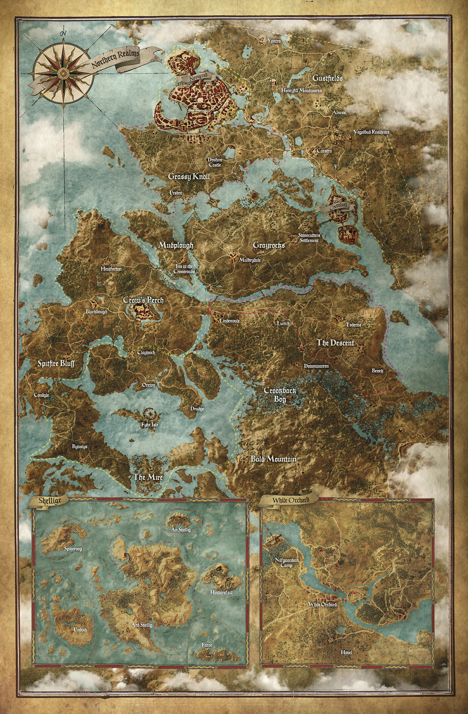 Witcher 3 world map the witcher 3 world map gumiabroncs Choice Image