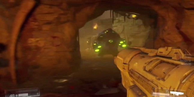 Doom 2016 Rocket Launcher Glowing Green Enemy Gameplay Screenshot