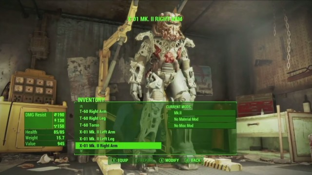 Fallout 4 Armor Crafting Iron Man Power Suit Xbox One PS4 PC Gameplay Screenshot