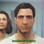 Fallout 4 Character Customization Face Scultping With Wife In Bathroom Mirror Xbox One, PS4, PC Gameplay Screenshot