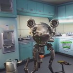 Fallout 4 Codsworth Robot Maid In Kitchen Talking Xbox One PS4 PC Gameplay Screenshot