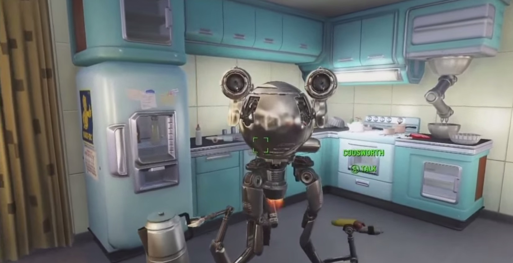Fallout 4 Codsworth Robot Maid In Kitchen Talking Xbox One PS4 PC ...