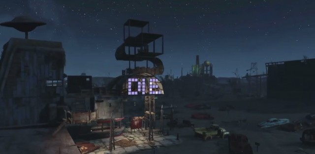 Fallout 4 Crafting Electricity Lights Die Sign Xbox One PS4 PC Gameplay Screenshot