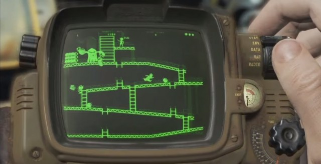Fallout 4 Pipboy Donkey Kong Minigame Red Menace Game Tape Xbox One PS4 PC Gameplay Screenshot