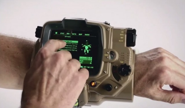 Fallout 4 Real Life Pipboy Stock Photo On Wrist Xbox One PS4 PC Gameplay Screenshot