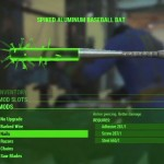Fallout 4 Weapon Crafting Spiked Aluminum Baesball Bat Xbox One PS4 PC Gameplay Screenshot
