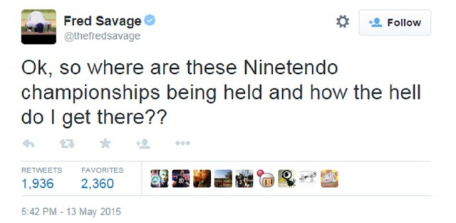 Fred Savage The Wizard Nintendo World Championships 2015 Tweet Twitter Post