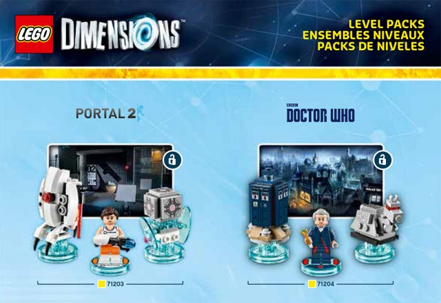 Lego Dimensions Portal 2 Doctor Who Level pack Sets Box Artwork Official USA