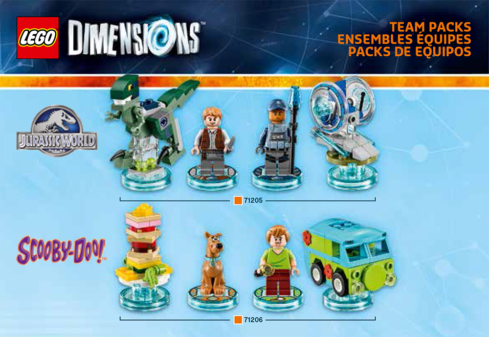 Lego Dimensions Scooby Doo Jurassic World Level Pack Sets Box Artwork Official USA