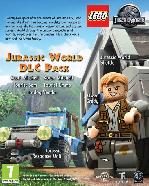 Lego Jurassic World - Jurassic Park Trilogy Pack 1 & 2