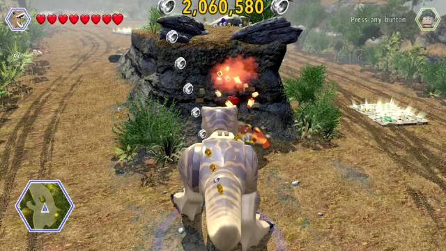 Lego Jurassic World Red Brick 2: Studs x4 Location