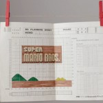 Making of Super Mario Bros Title Screen Graph Paper Design Document 1984 Art Official