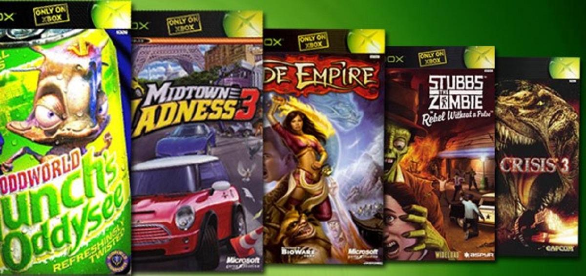 Only On Original Xbox Games Banner Artwork