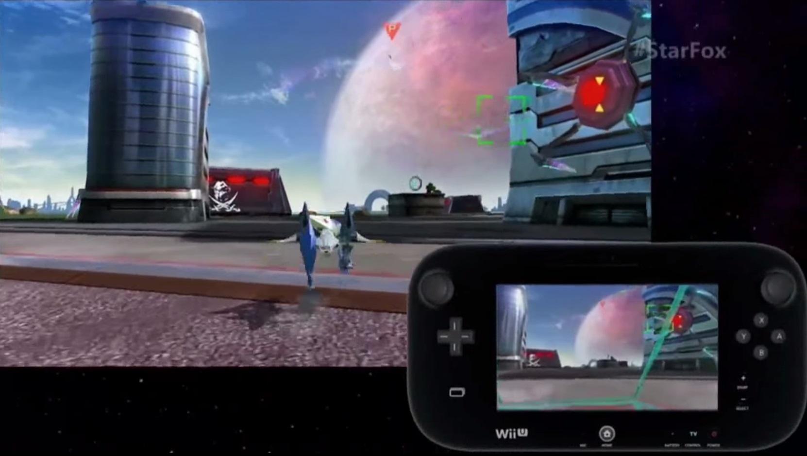 Star Fox Zero Wii U GamePlay Screenshot GamePad Cockpit View Walker