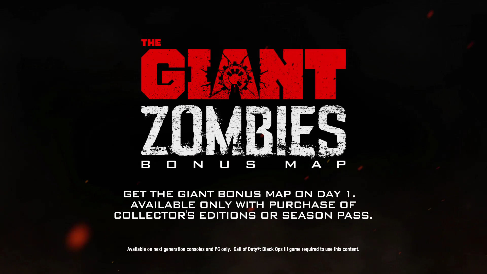 Call Of Duty Black Ops 3 The Giant Zombies Bonus Map Logo