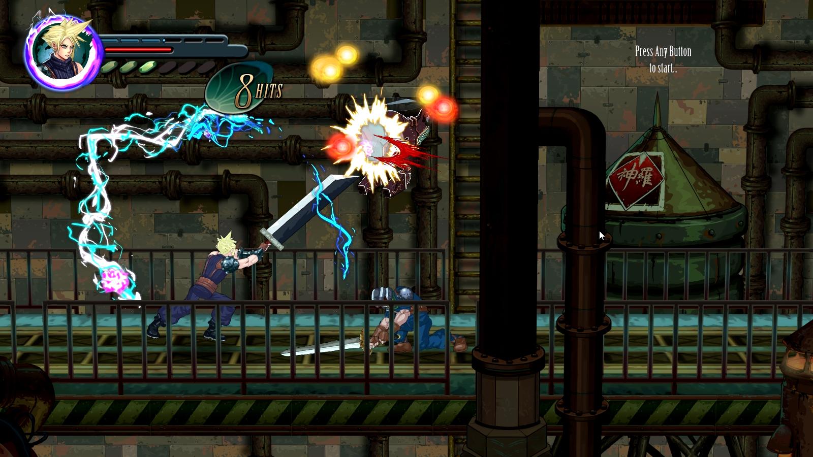 Final Fantasy VII Reimagined Cloud Sword Strike Gameplay Screenshot PC
