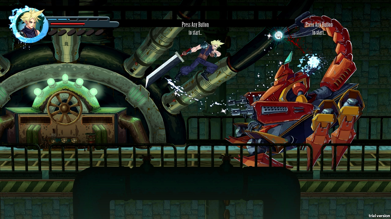 Final Fantasy VII Reimagined Mech Fight Gameplay Screenshot PC