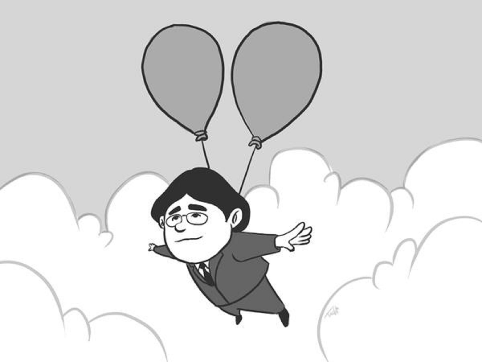 RIP Iwata Balloon Fight In Heaven Tribute Ballooning Away By Alejandro Argandona