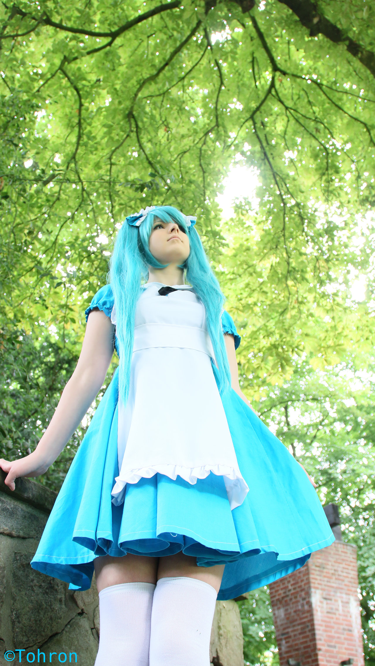 Miku Cosplay Schoolgirl Forest Starring Leene by Tohron1980