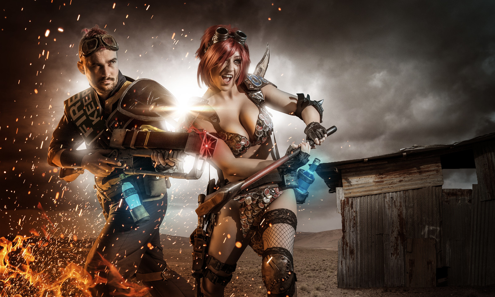 Fallout 4 Cosplay Running Battle Starring TabithaArtyFakes and Valentine Cosplay by Creative Edge Studios