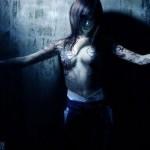 Fatal Frame 3 Cosplay Tattooed Priestess Topless