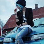 Life Is Strange Cosplay Chloe Smoking On Car By Paulinefication