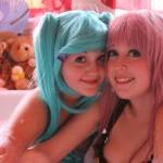 Miku Luka Lesbian Cosplay Sexy Bathtime Squeky Clean Starring Sarasekhmet and Creamsiclejupiter by Shadowyazoo