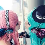 Miku Luka Lesbian Cosplay Kissers Starring Mizukishou and Kahyasi DeviantArt