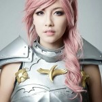 Amie Lynn Lightning Cosplay Armor Final Fantasy XIII Upclose View