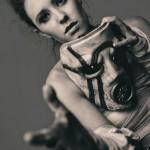 Meg Turney Black and White Mask Borderlands Psycho Bandit Cosplay