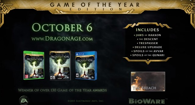 dragon age inquisition game of the year upgrade - Answer HQ