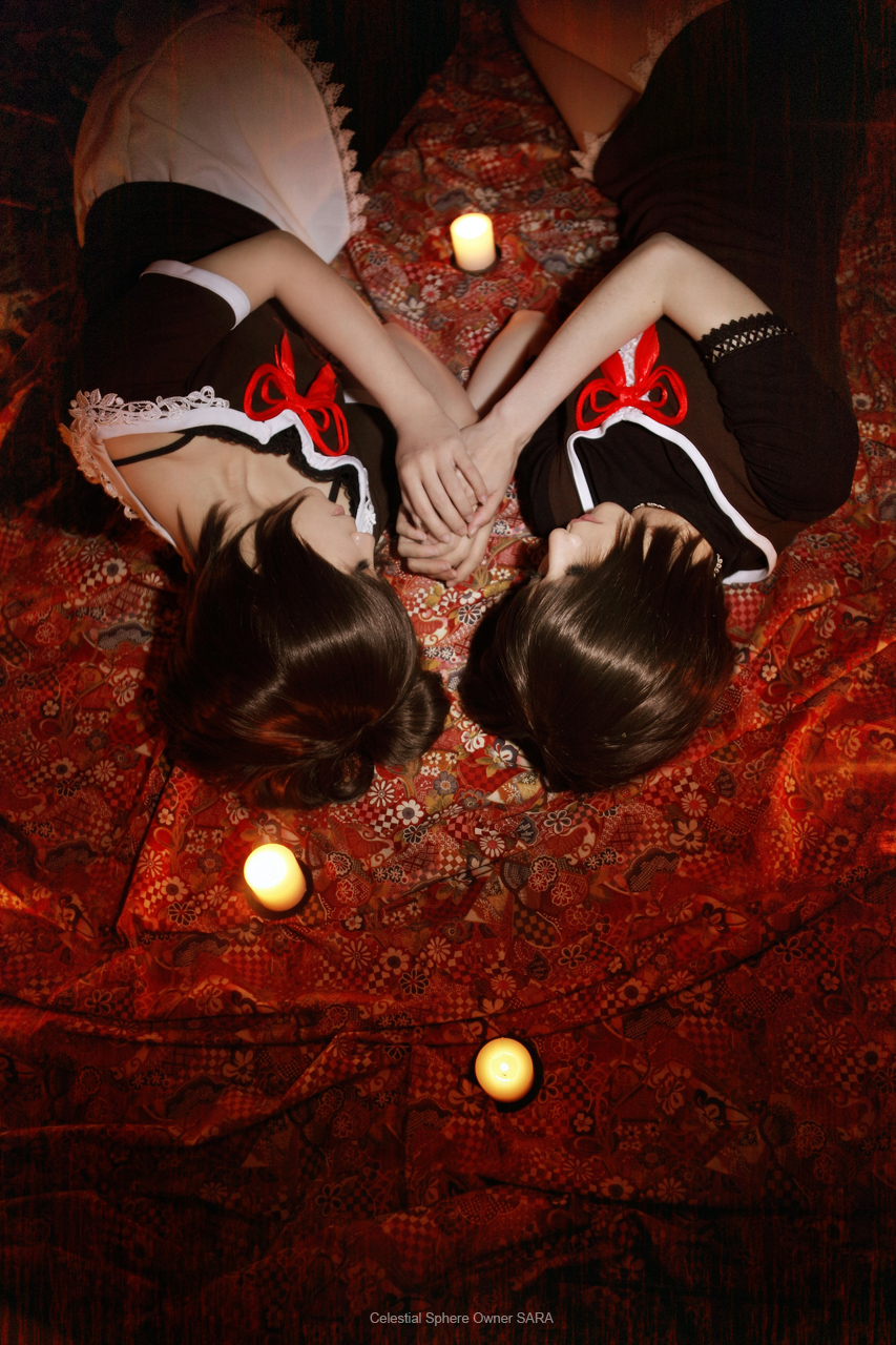 Fatal Frame 2 Cosplay Twins On Bed In Red Mio Mayu by Sara1789 Deviantart