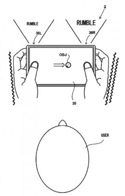 Nintendo NX Touchscreen Rumble Patent Diagram