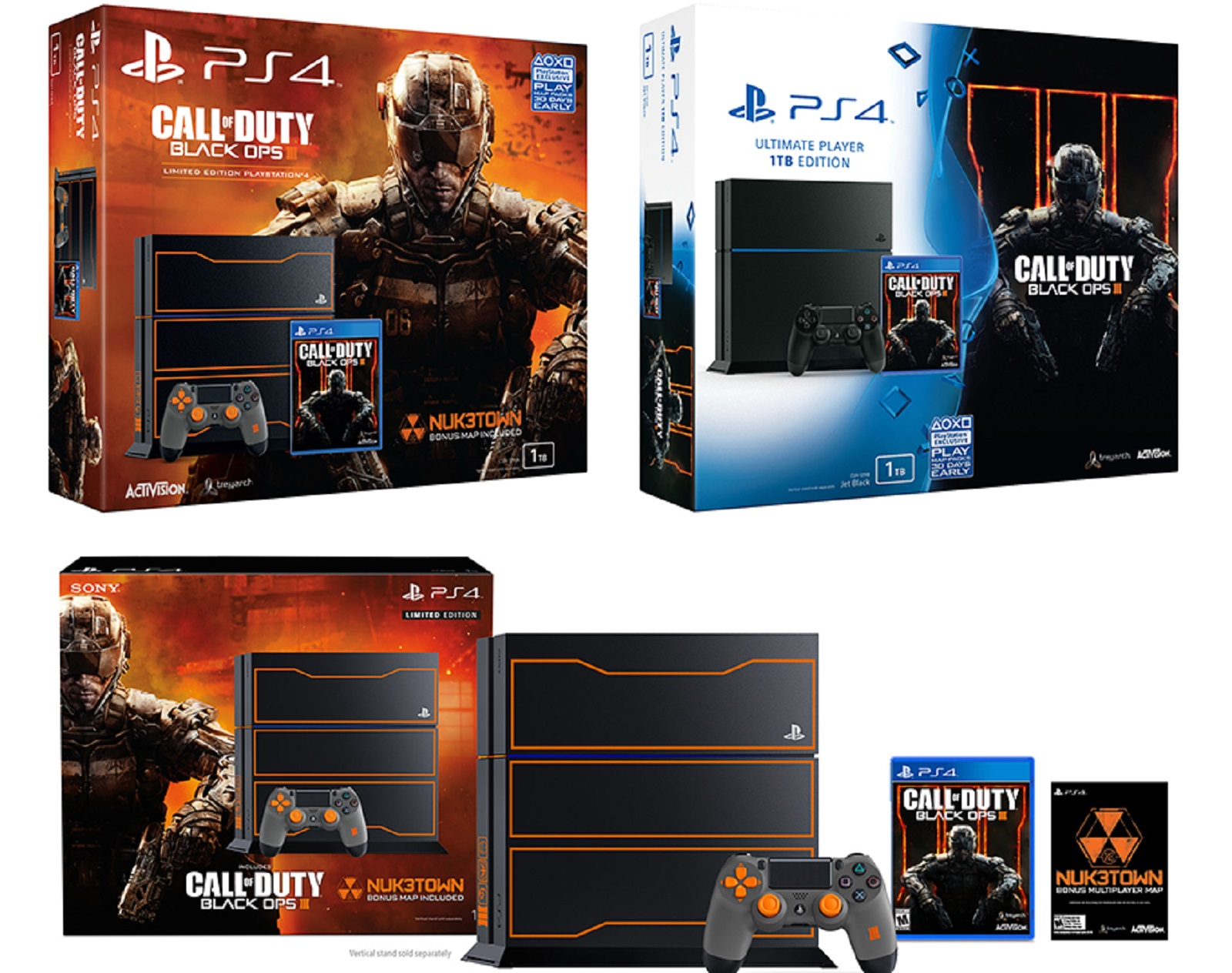Ps4 Call Of Duty Black Ops 3 Limited 1tb Edition Box Artwork